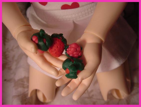 Petites créations en fimo ^^ Fruits